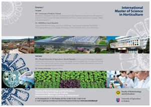 International Master of Horticultural Science